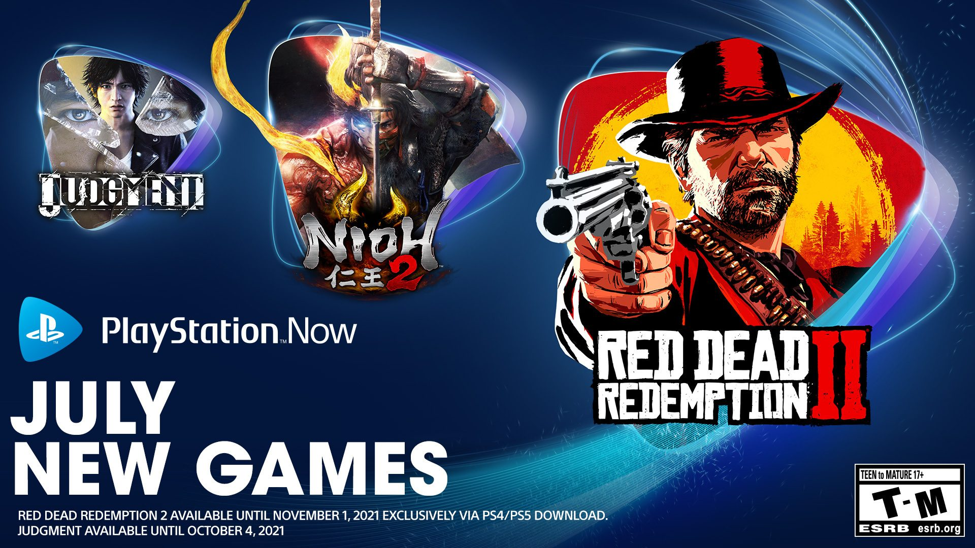 PlayStation Now games for July: Red Dead Redemption 2, Nioh 2, Judgment