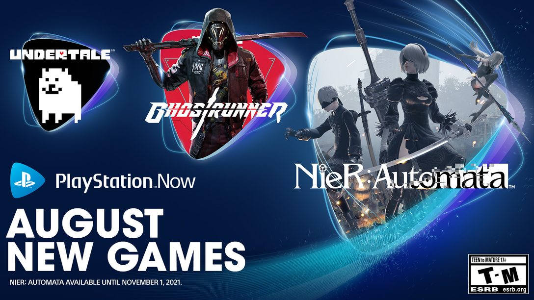 PlayStation Now games for August: Nier: Automata, Ghostrunner, Undertale
