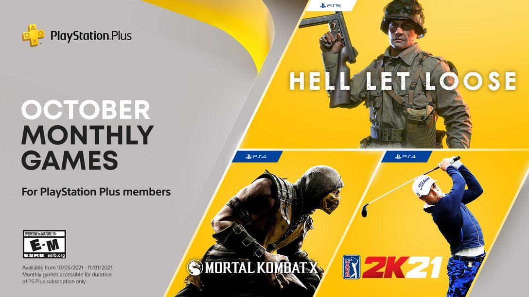 PlayStation Plus games for October: Hell Let Loose, PGA Tour 2K21, Mortal Kombat X