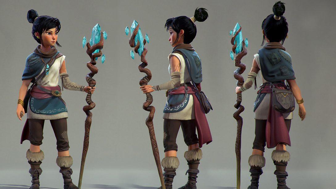 Bringing the lead character of Kena: Bridge of Spirits to life