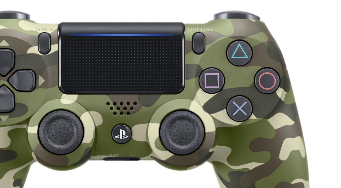 Nouvelle manette DUALSHOCK 4 camouflage vert dévoilée