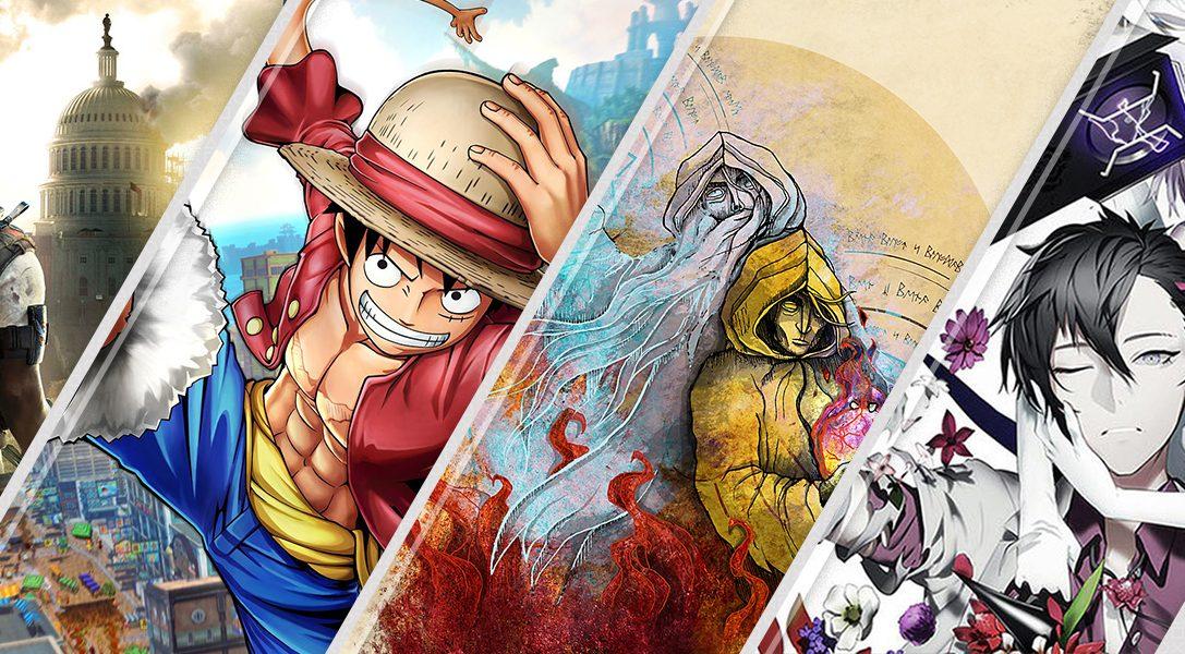 Les nouveautés de la semaine sur le PlayStation Store: Tom Clancy's The Division 2, One Piece World Seeker, et bien plus