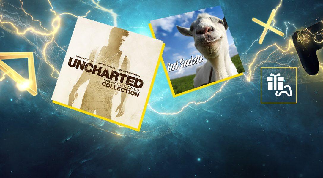 Uncharted: The Nathan Drake Collection et Goat Simulator sont vos jeux PS Plus de janvier