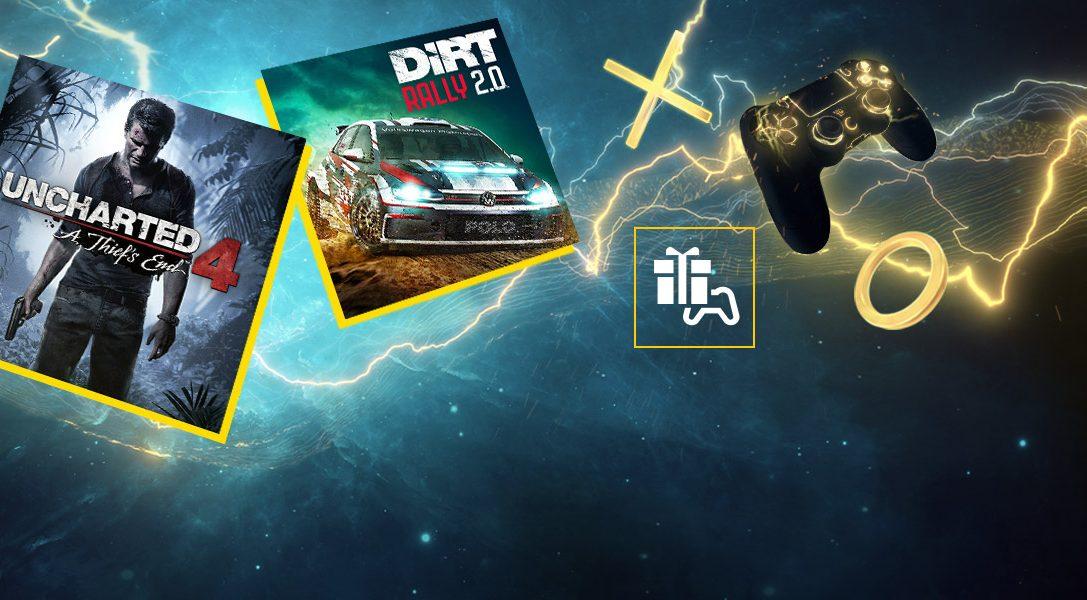 Uncharted 4: A Thief's End et DIRT Rally 2.0 sont vos jeux PlayStation Plus du mois d'avril