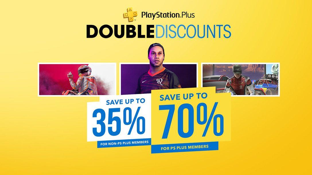 L'offre Doubles réductions commence aujourd'hui sur le PlayStation Store