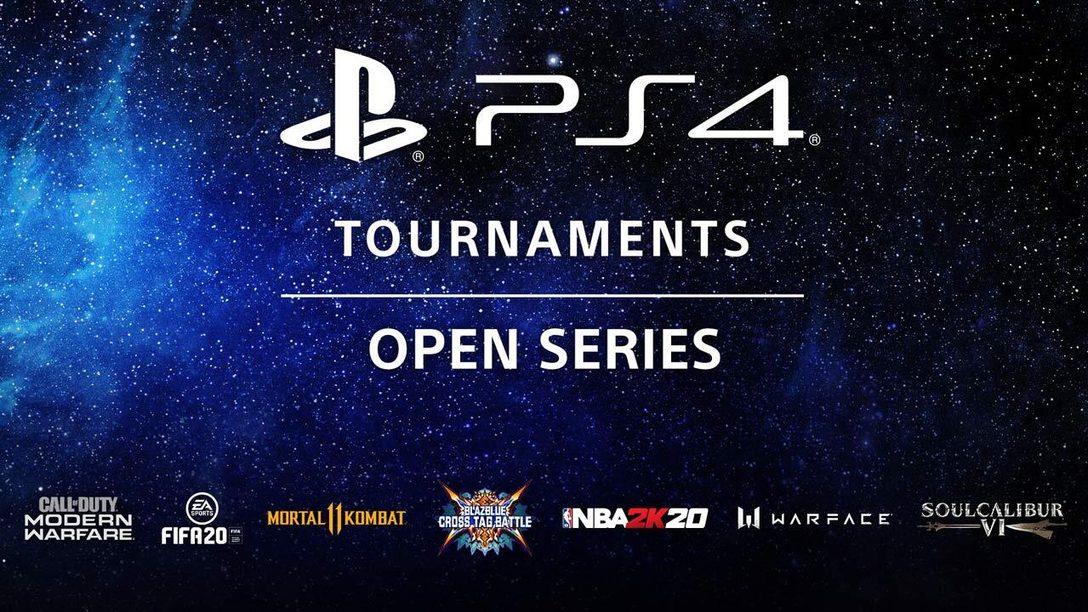 La compétition continue avec les Tournois PS4 Tournaments: Open Series