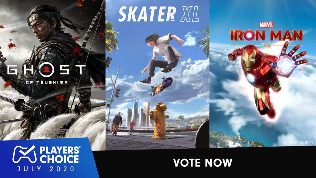 Choix des joueurs : votez pour le meilleur nouveau jeu de juillet 2020.