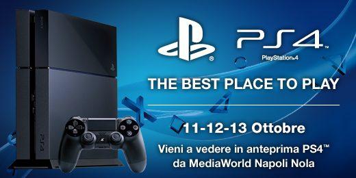 PlayStation 4 sta arrivando – Scoprila a Napoli!