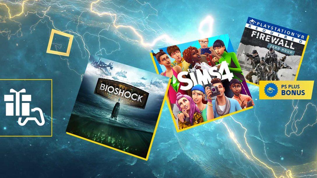 I giochi inclusi a febbraio con PS Plus: Bioshock: The Collection, The Sims 4, e Firewall Zero Hour