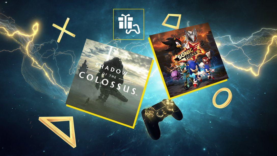 Shadow of the Colossus e Sonic Forces sono i tuoi giochi PS Plus di marzo
