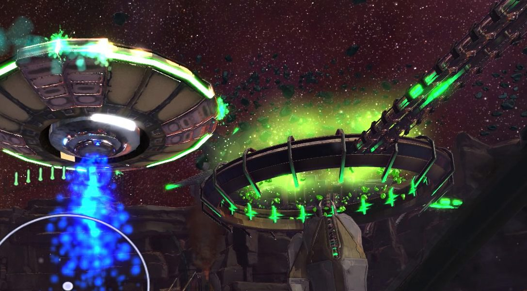 Der intensive Shooter Super Stardust Ultra VR begleitet PlayStation VR am 13. Oktober