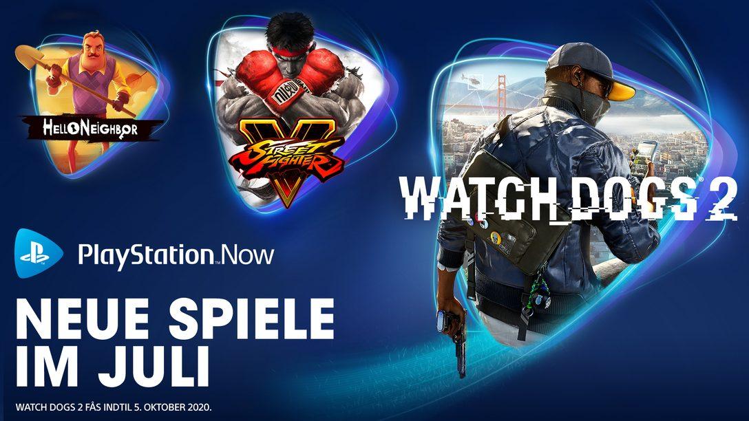 Watch Dogs 2, Street Fighter V und Hello Neighbor sind ab Juli bei PS Now verfügbar
