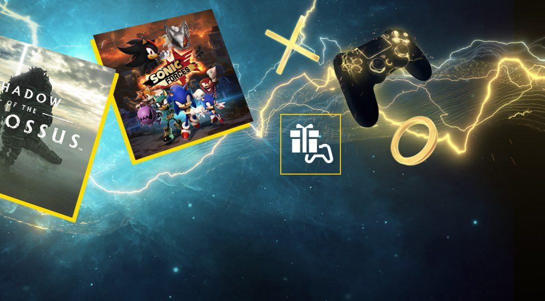 Shadow of the Colossus y Sonic Forces son tus juegos de PS Plus para marzo