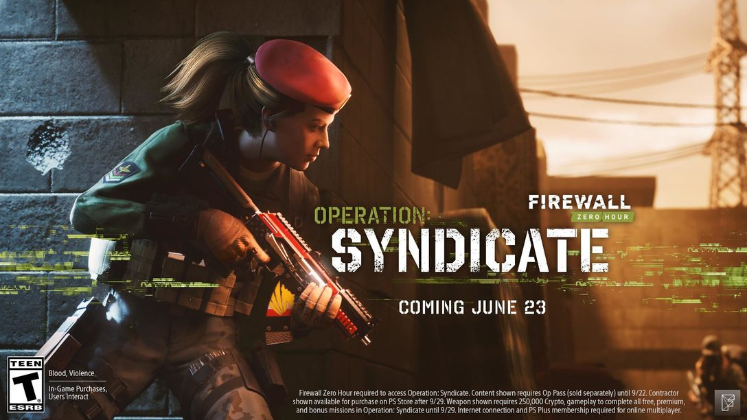 Hoy llega la nueva temporada de Firewall Zero Hour — Operation: Syndicate
