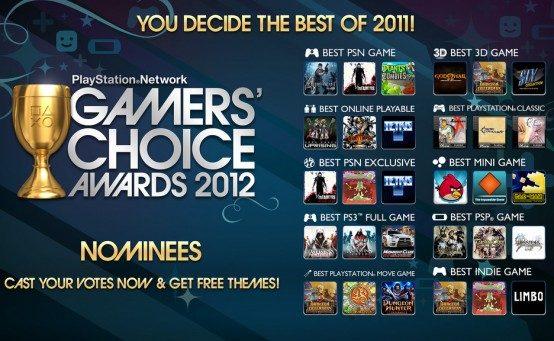 Estos son los nominados de los PSN Gamers' Choice Awards 2012