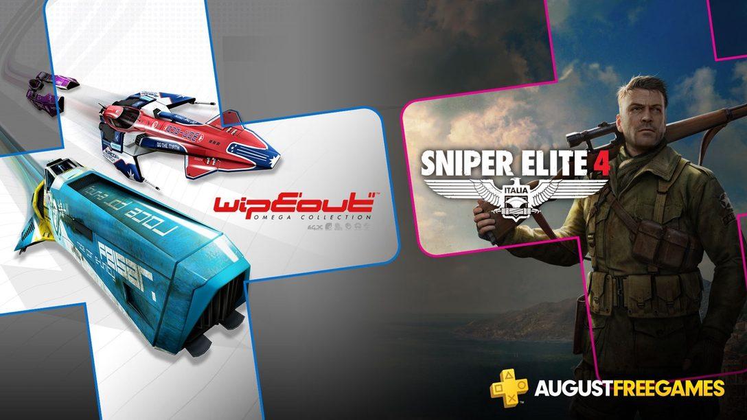 Estos son los Juegos Gratuitos de PlayStation Plus para Agosto: WipEout Omega Collection y Sniper Elite 4