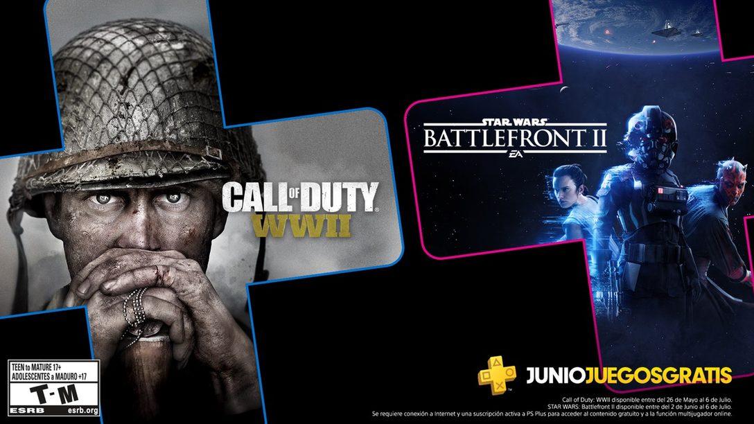 Star Wars: Battlefront II y Call of Duty: WWII son los Juegos de PS Plus para Junio