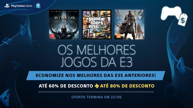Promoção Os Melhores Jogos da E3: Títulos dos Eventos Passados