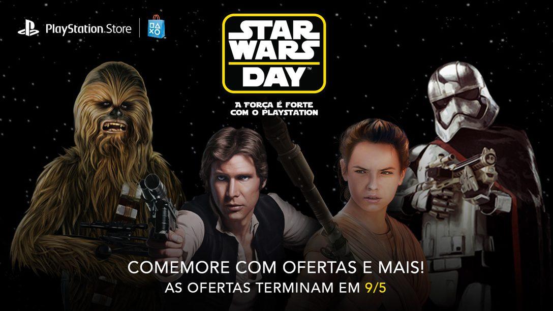 Promoção Star Wars Day: Até 75% de Desconto em Títulos Star Wars + Um Tema Gratuito