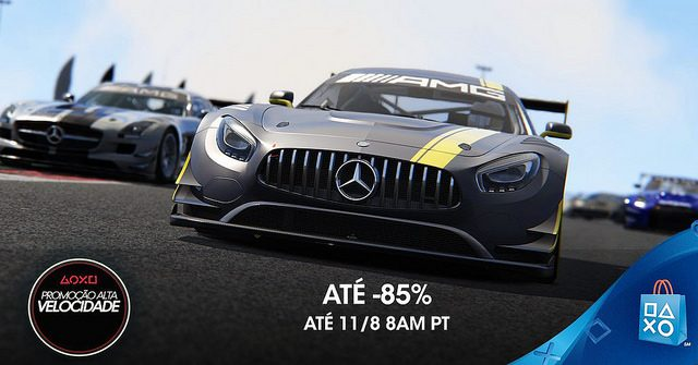 Promoção Alta Velocidade: Até 85% de desconto em jogos velozes