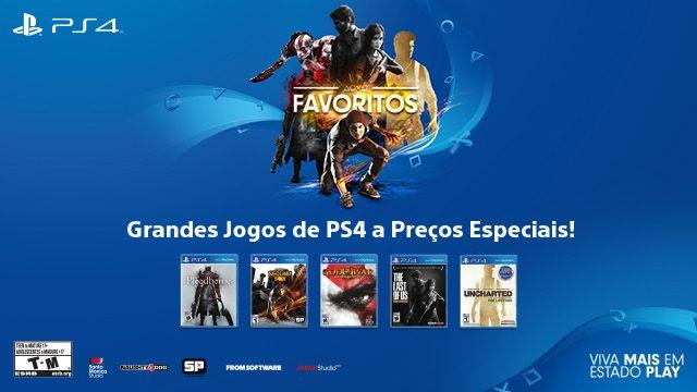 Grandes Jogos de PS4 a Preços Especiais por Tempo Limitado