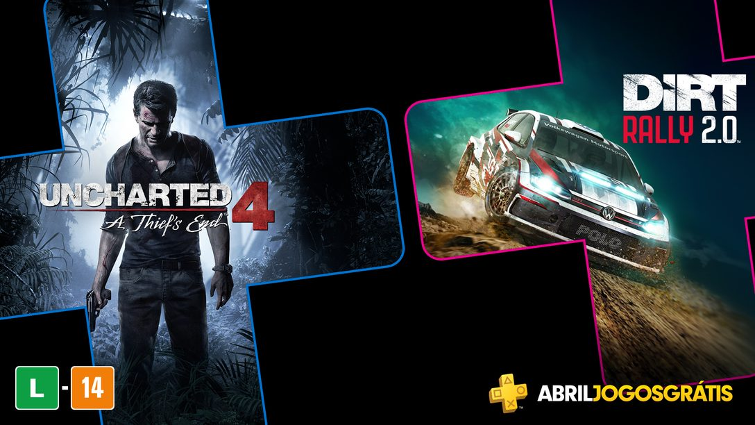 Uncharted 4: A Thief's End e Dirt Rally 2.0 São os Jogos PlayStation Plus de Abril