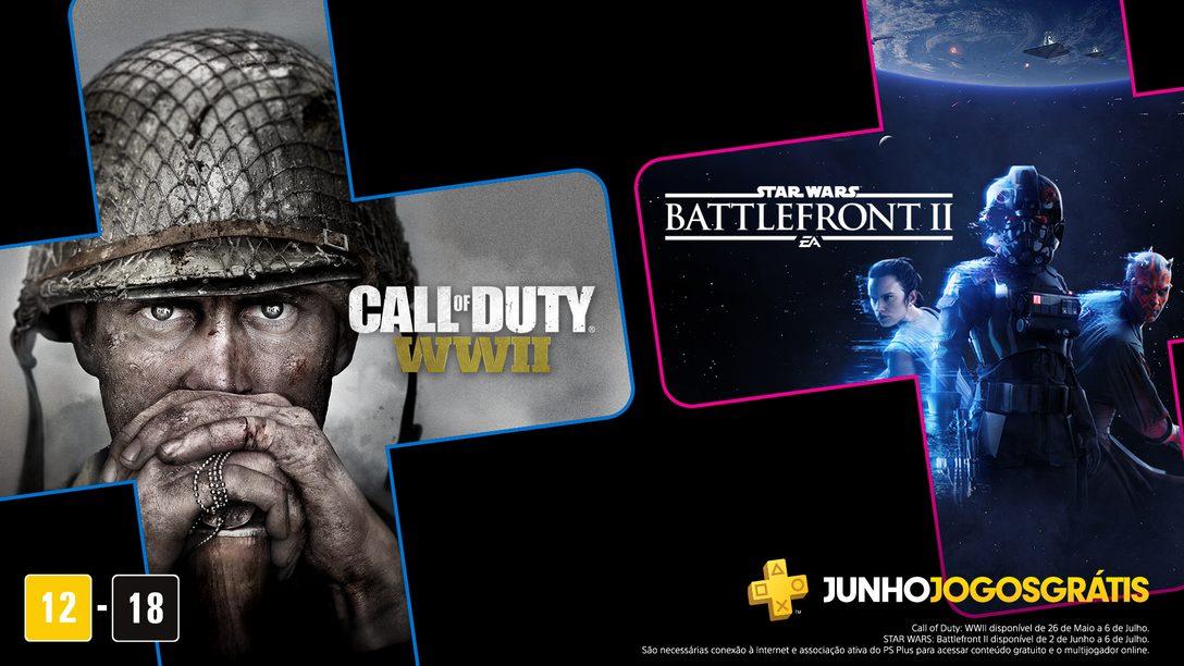 Star Wars Battlefront II e Call of Duty: WWII São os Jogos Gratuitos de Junho para Membros PS Plus
