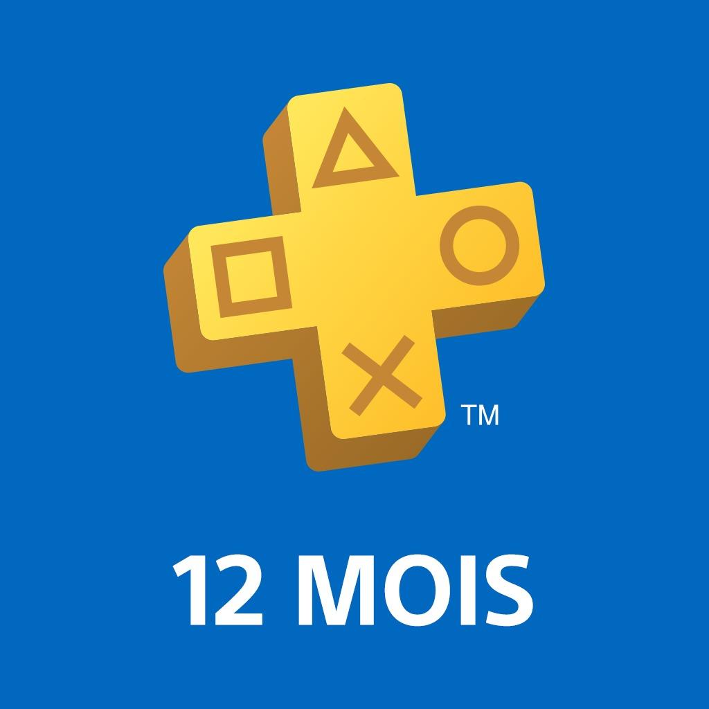 PlayStation®Plus : abonnement de 12 mois sur PS4