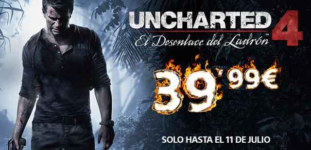 Uncharted 4 a un precio irrepetible
